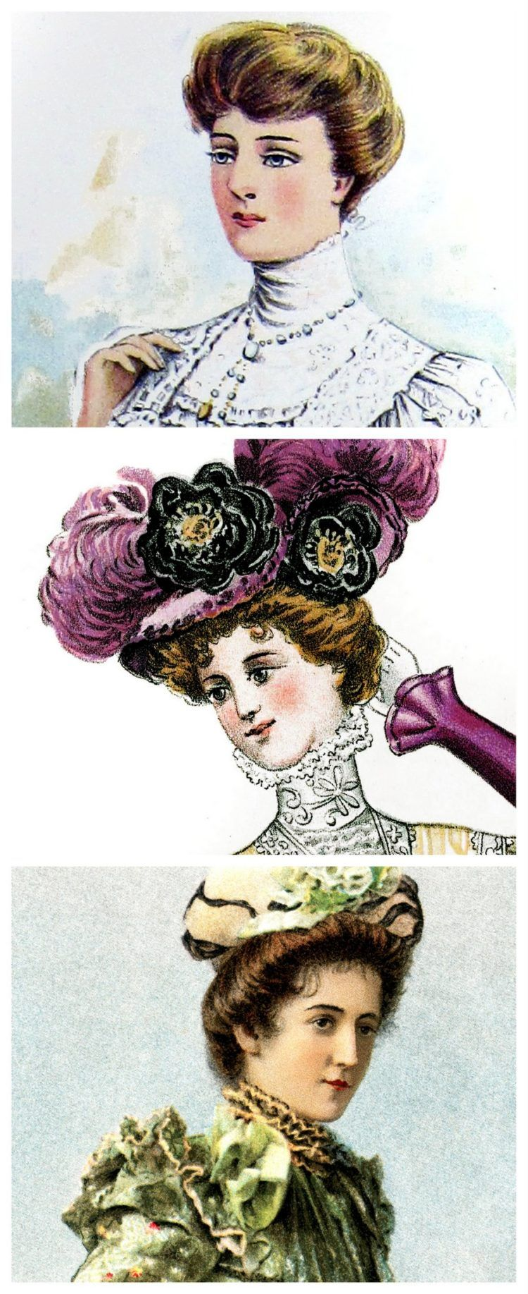 Vintage Hairstyles The Pompadour Victorian Hairstyles Old Fashioned Hairstyles Bun Hairstyles For Long Hair