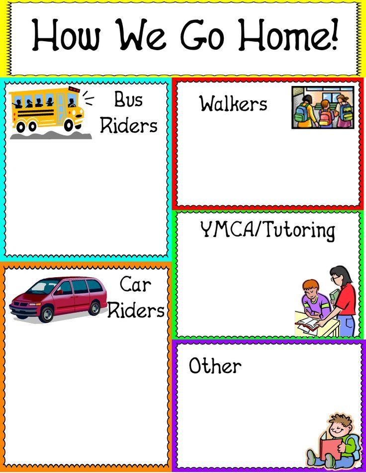 How We Go Home mini-poster- freebie!   Back to School: Ideas ...