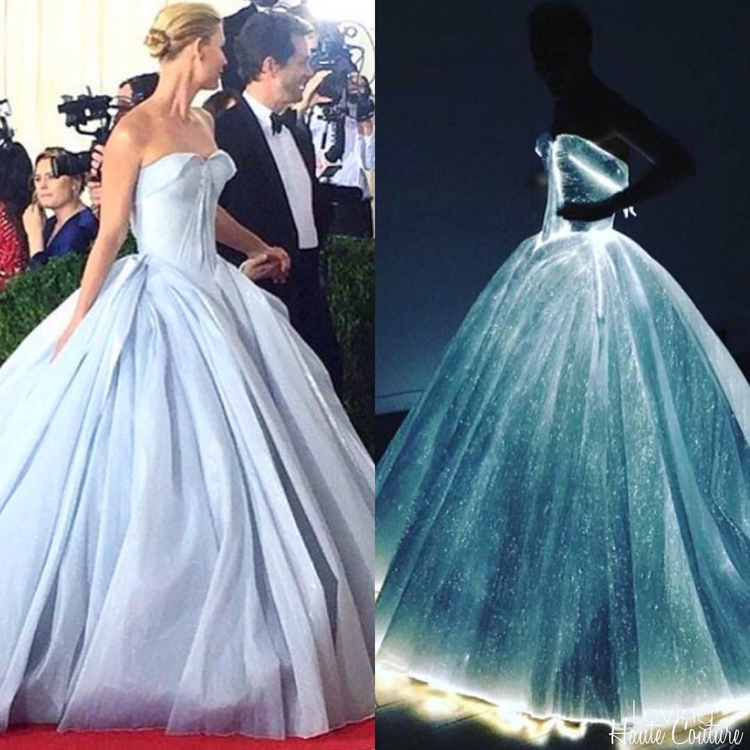 The gown that glows in the dark ✨ Claire Danes wearing Zac Posen ...