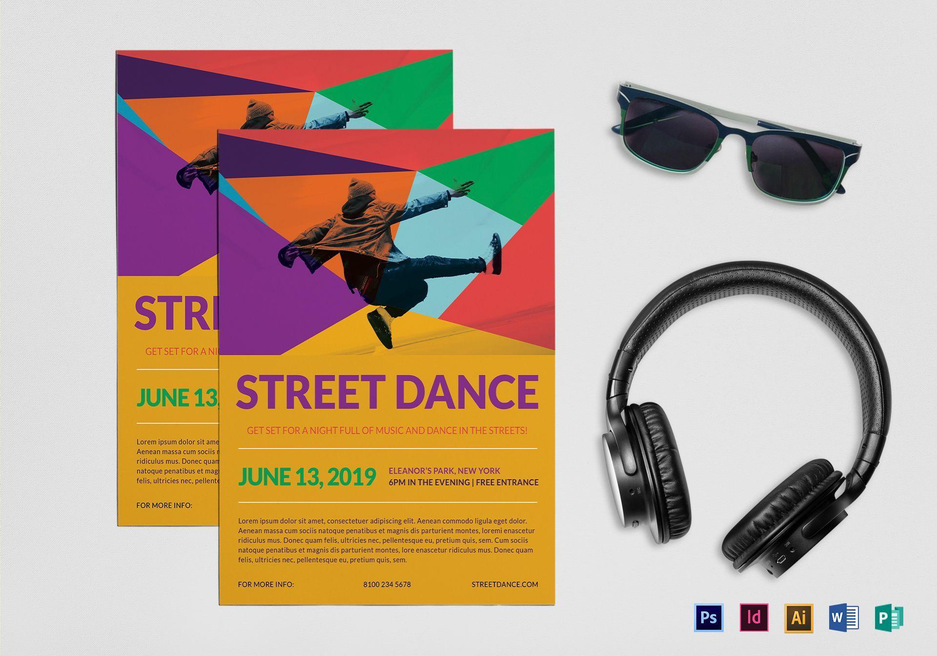 Street Dance Flyer Template Regarding Dance Flyer Template Word Cumed Org Flyer Template Street Dance Professional Templates