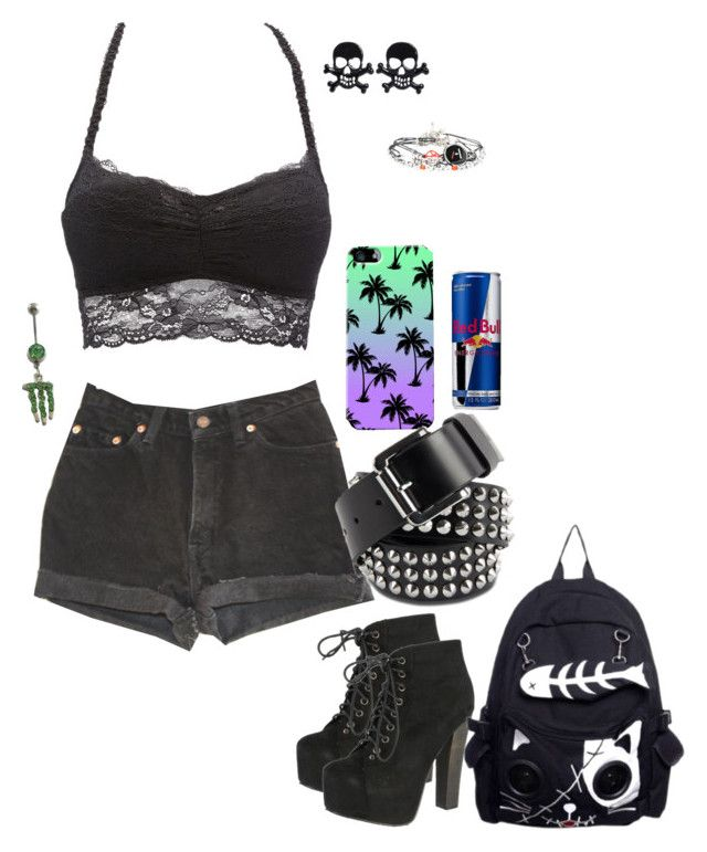 """""""Untitled #2634"""" by xx-fallen-angels-xx ❤ liked on Polyvore featuring moda, Levi's, Breckelle's, Charlotte Russe, Dr. Martens, women's clothing, women, female, woman i misses"""