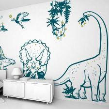 Vinilos Dinosaurio Tiranosaurio - Vinilos Infantiles Niños E-Glue - Decoración de Paredes Habitaciones Infantiles