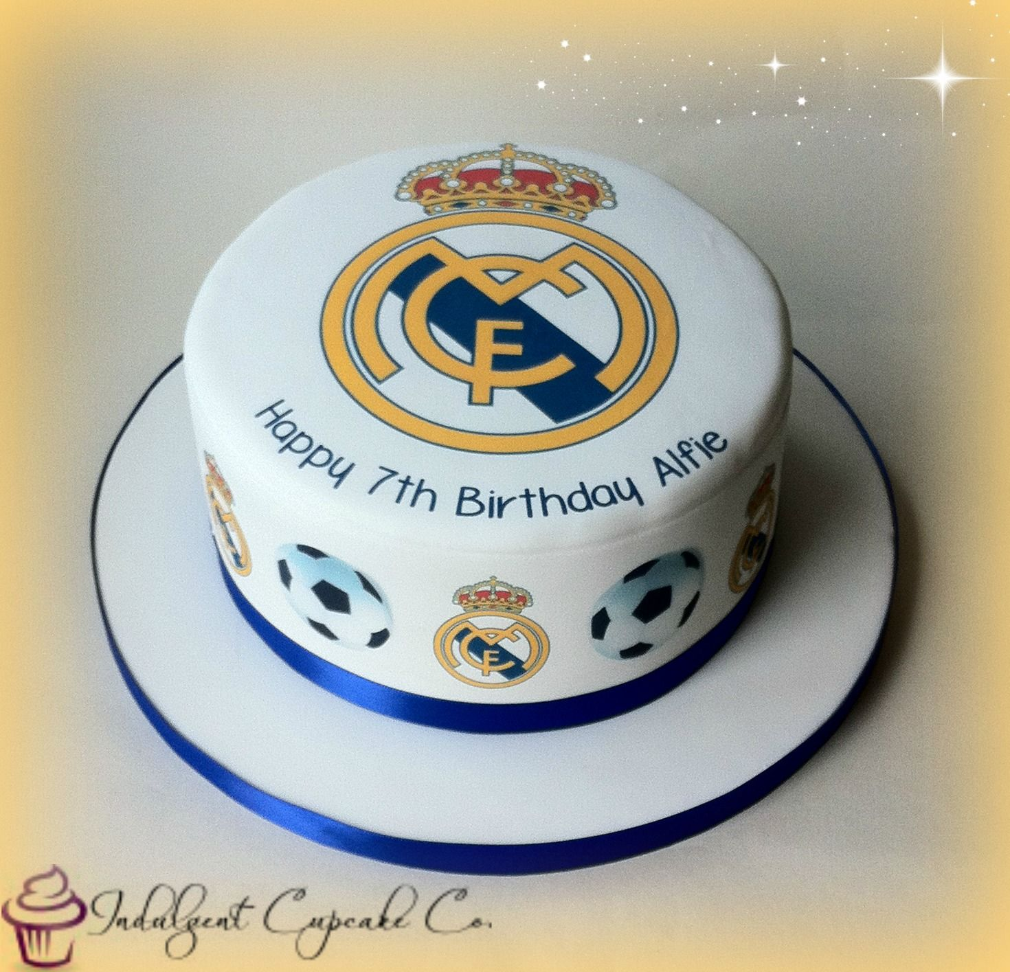 Real Madrid Personalised Cake Real Madrid Cake Soccer