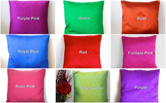 Solid Red Pillow Red Throw Pillow Cover Solid by TheHomeCorner