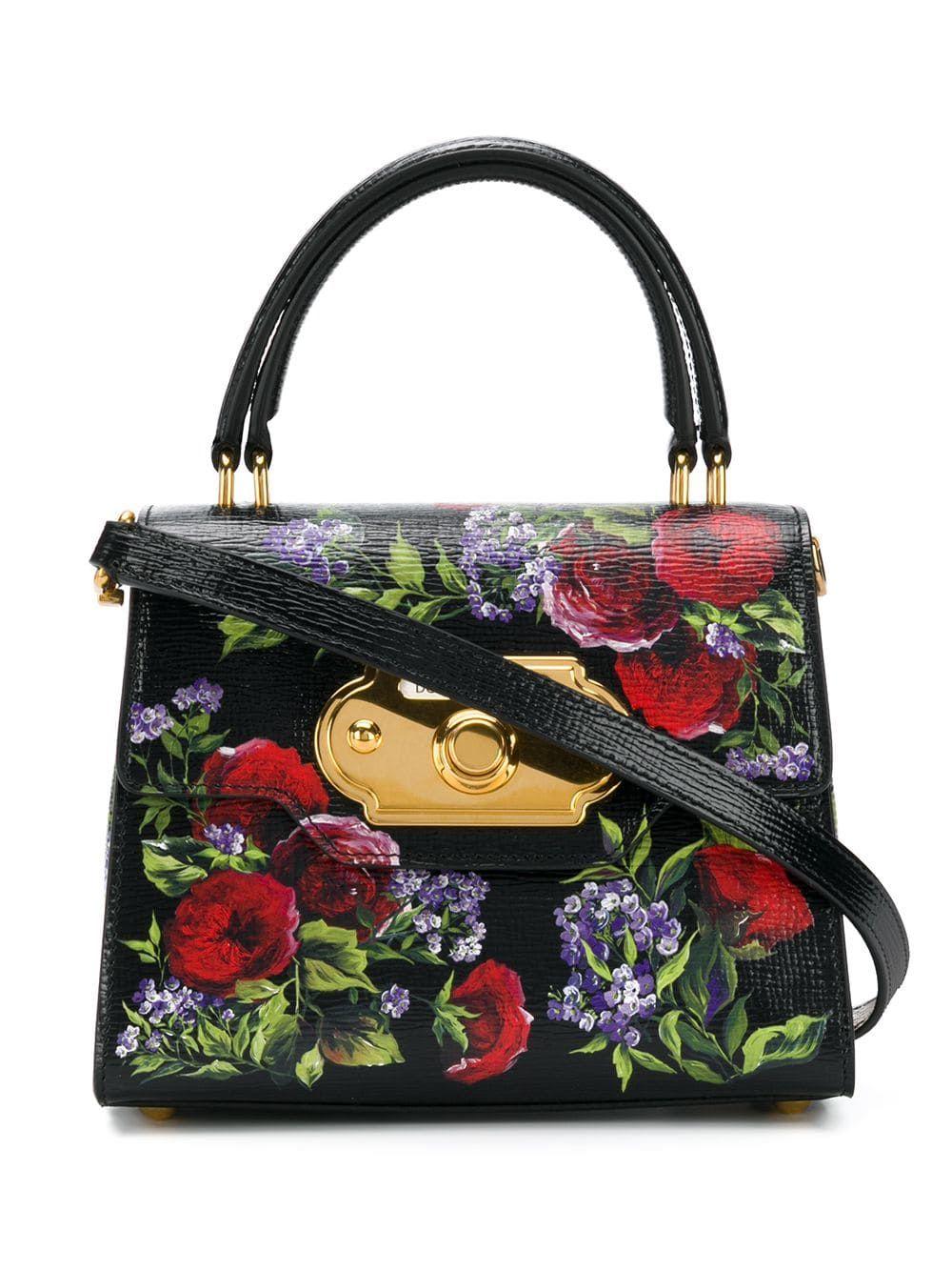 Dolce Gabbana Dolce Gabbana Floral Print Tote Bag Schwarz