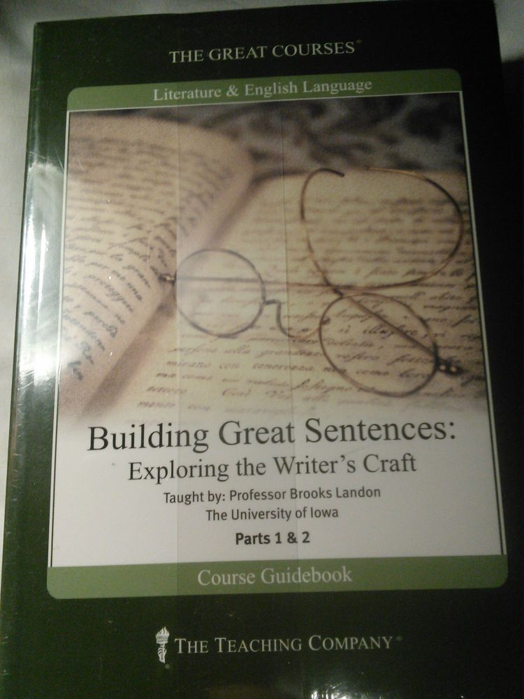 The Great Courses Building Great Sentences Exploring The Writer's Craft Sealed