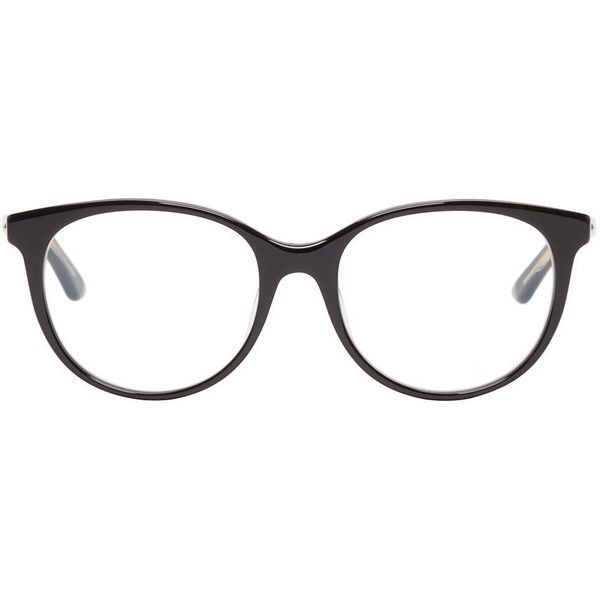 bea06e207f1 Dior Black Montaigne 16 Optical Glasses ( 230) ❤ liked on Polyvore  featuring accessories