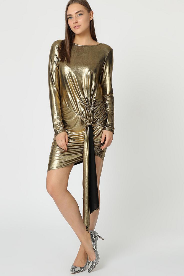 buy popular cfd07 773c9 GOLD 🙌 Vestito color oro per accendere il tuo look delle ...
