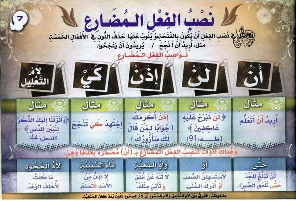 قواعد اللغة العربية للمبتدئين مصب الفعل المضارع Learning Arabic Learn Arabic Language Arabic Language