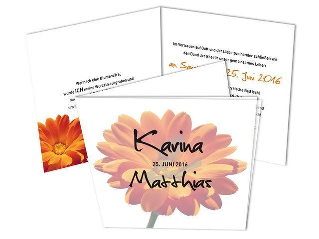 Hochzeitskarten Sonnenstrahlen Schone Gerbera Blute In Orange