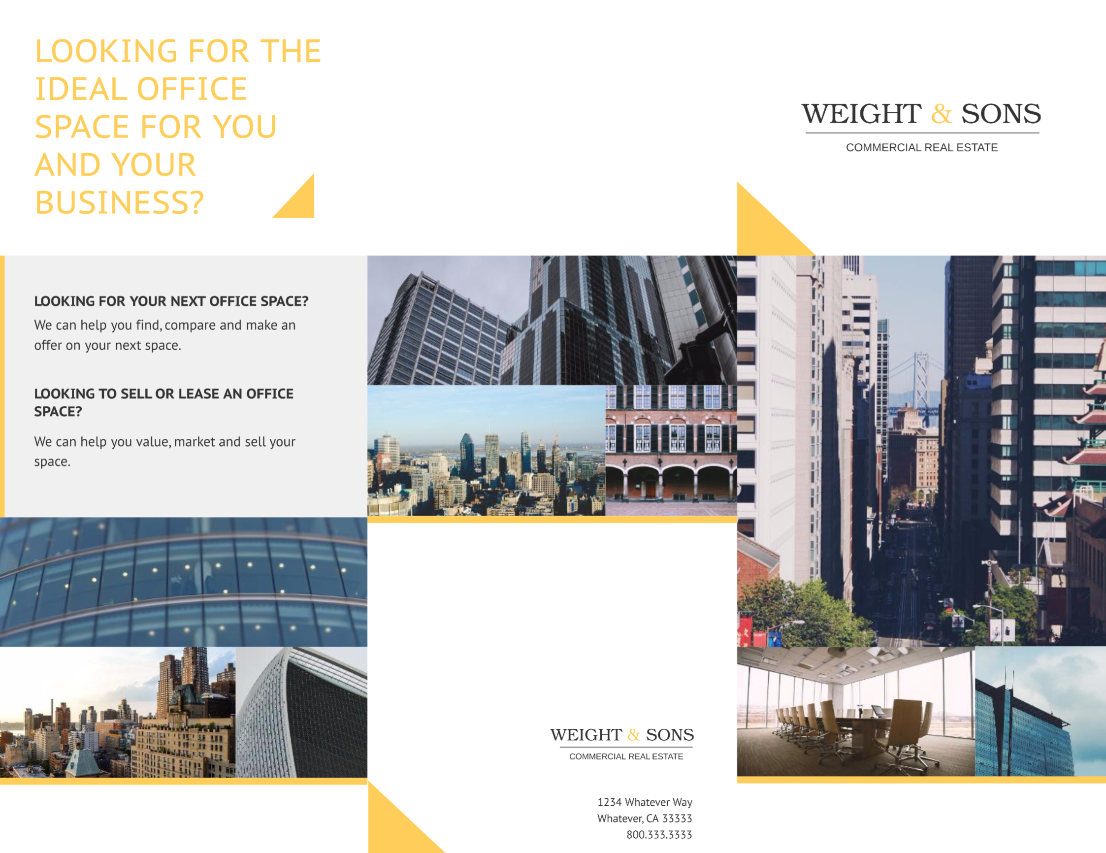 commercial real estate brochure template real estate marketing