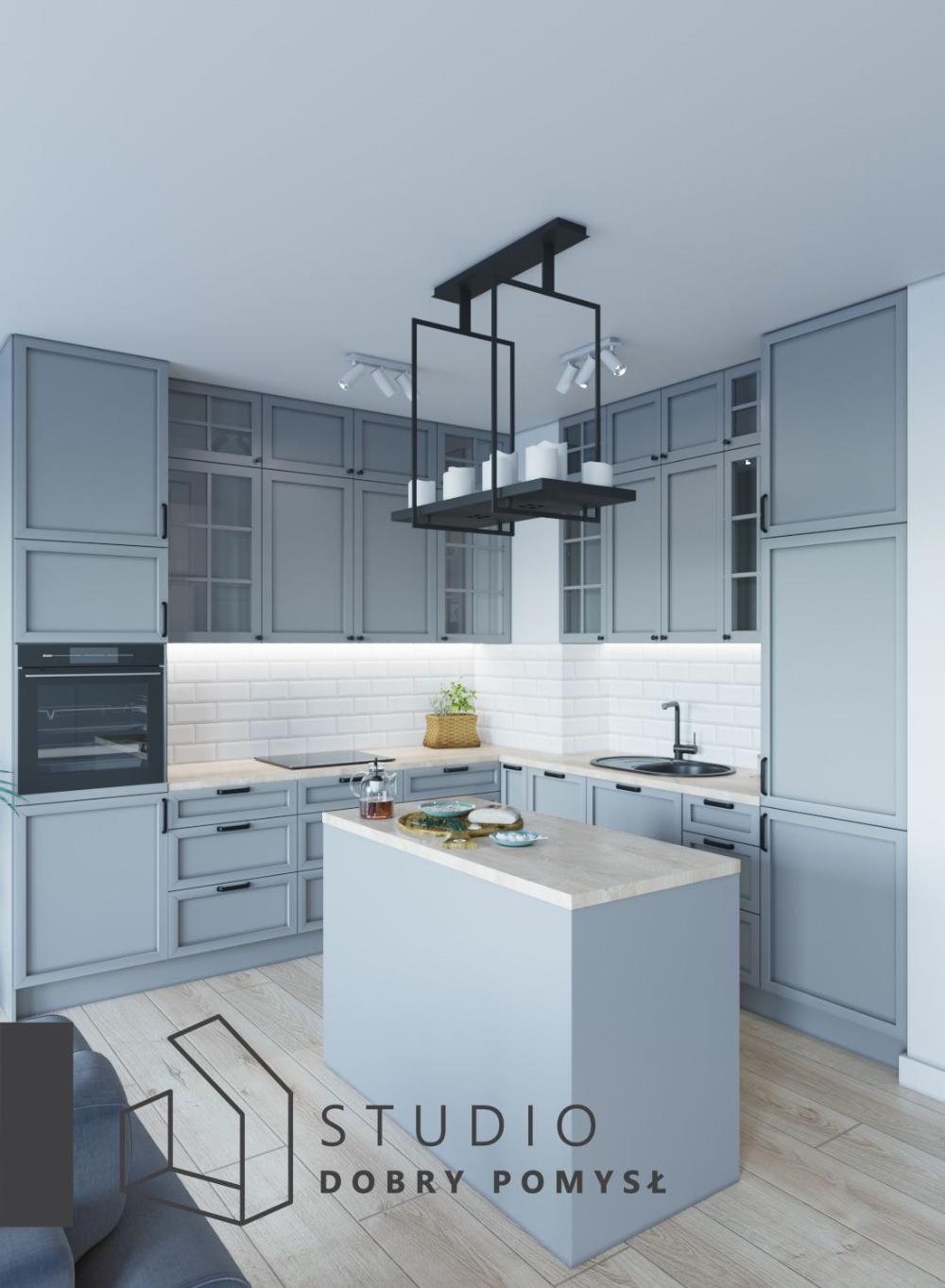 Szara Kuchnia Z Wyspa Zdjecie Studio Dobry Pomysl Home Home Decor Kitchen