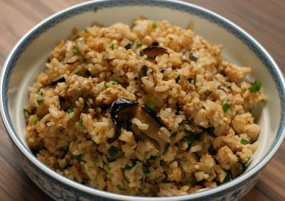 Garlic chicken and mushroom fried rice chinois pinterest garlic chicken and mushroom fried rice forumfinder Images