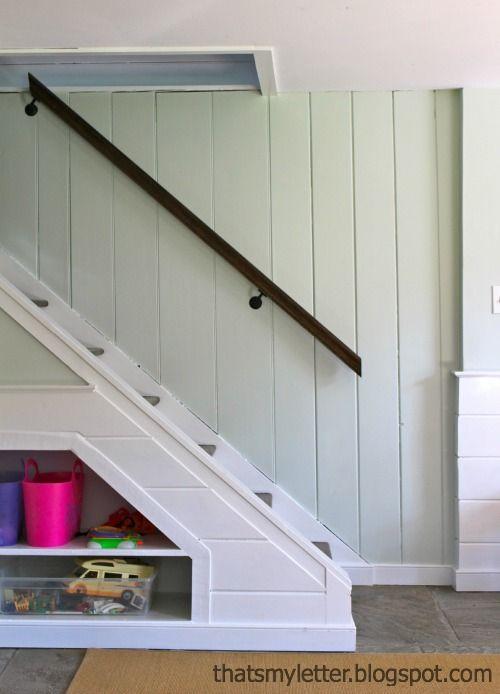 Best Diy Handrail Makeover Basement Remodeling Wood Handrail 400 x 300