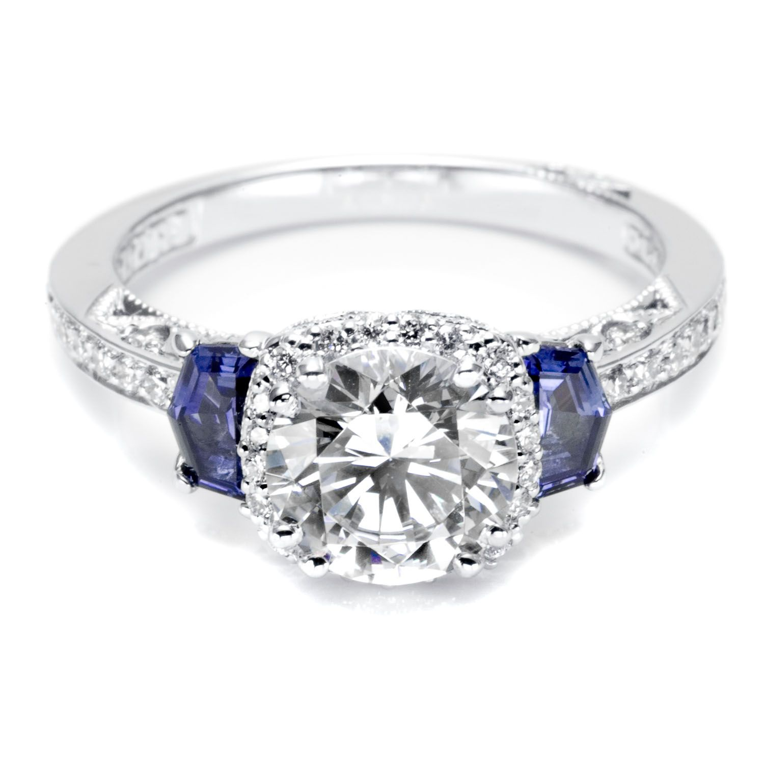 sapphire and diamond ring Accesorios Pinterest