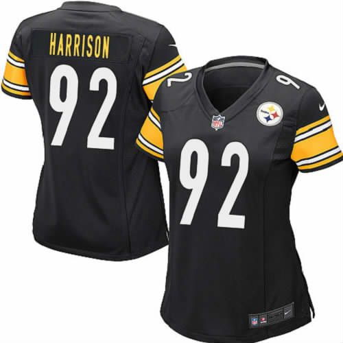 c3e13b475b1 ... Nike 92 James Harrison Black Women Limited Pittsburgh Steelers NFL  Jersey Sale Mens ...