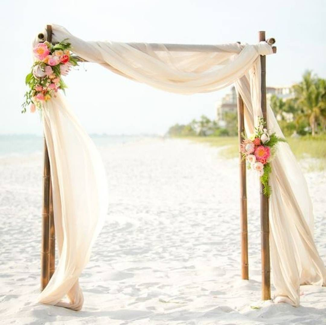 Diy Beach Wedding Arch: Simply Lovely Beach Chuppah
