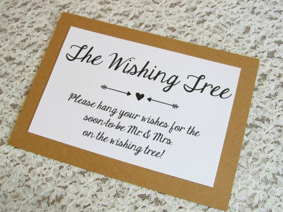 wishing tree instruction card for bridal by freespiritcrafting