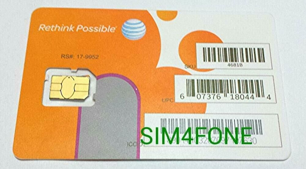 Att nano sim card for iphone 5 5c 5s 6 6 plus 7 8