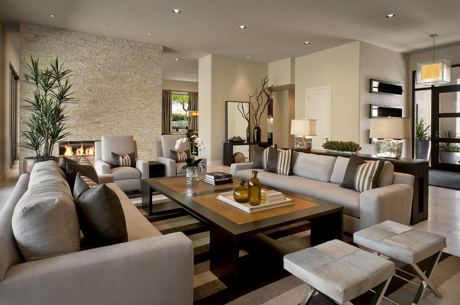 Gorgeous Contemporary Living Room With Fireplace And Sofas Gorgeous Design Ideas For Large Living Rooms Inspiration Design