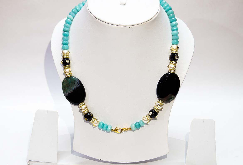 Spunky pearl multicolour necklace for pendant novuskart