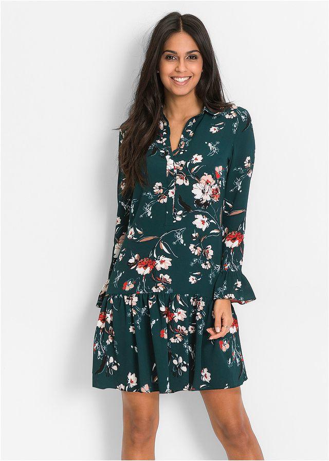 Sukienka W Kwiaty Bardzo Kobieca 129 99 Zl Bonprix Fashion Long Sleeve Dress Dresses With Sleeves
