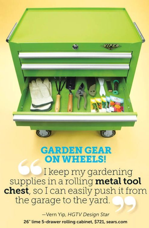 Tool box for gardening tool. Good idea | Gardening/Landscaping ideas ...