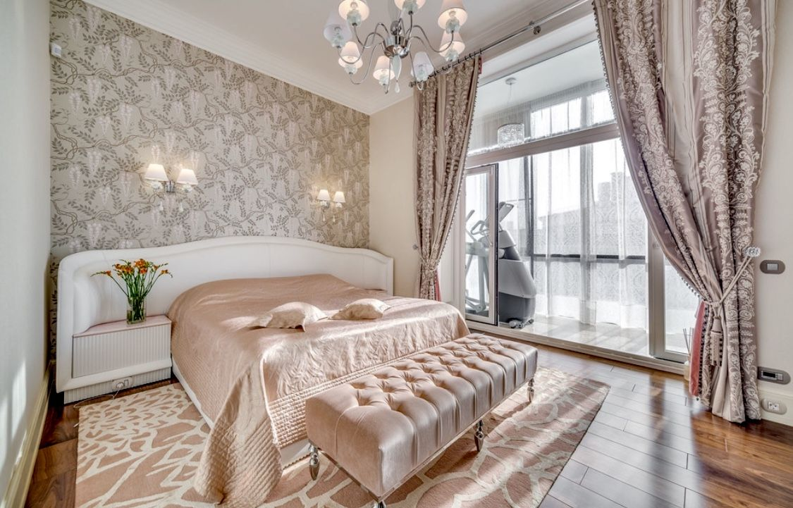 Luxury rose gold beautiful beautiful bedroom decor with ...