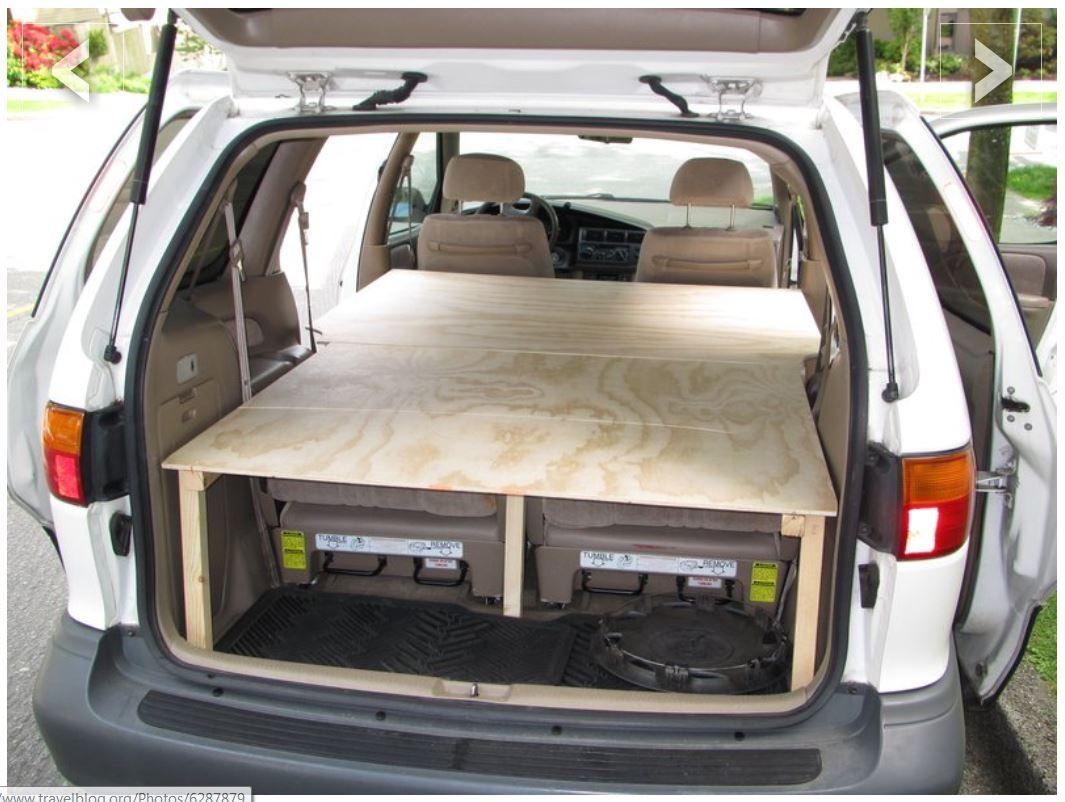 DIY Sleeping Platform Mini van, Suv camping, Minivan