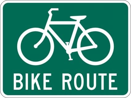 Bicycle Route Sign Clip Art Free Vector In Open Office Drawing Svg