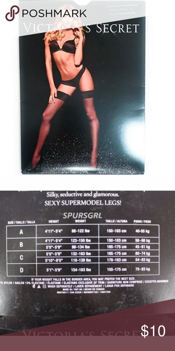 69ebeb5703e Victoria s Secret Supermodel Legs Sexy Sheer Thigh Victoria s Secret  Supermodel Legs Sexy Sheer Thigh High Stockings