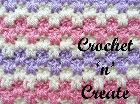 Crochet Interlocking Block Stitch Crochet Pinterest Crochet
