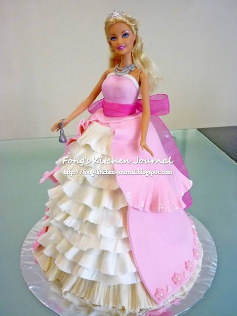 Fong S Kitchen Journal Princess Barbie Doll Cake Cakes
