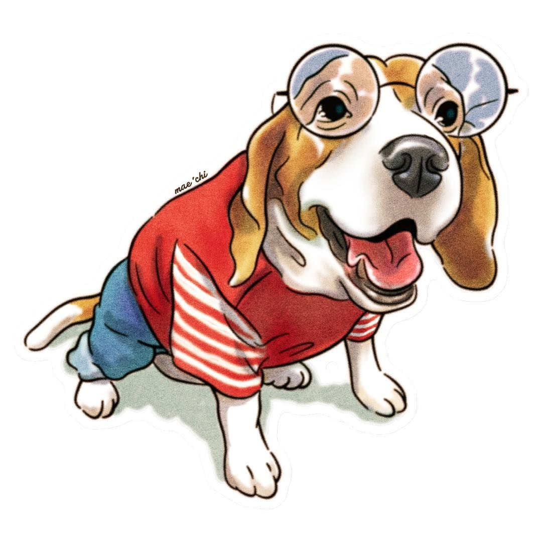 Beagle In Clothes น องหมาก บช ดหล อ 0 Drawing Illustrator Photoshop Dog Brother Colthes Glasses Maechiterritories Char Cute Tigger Scooby