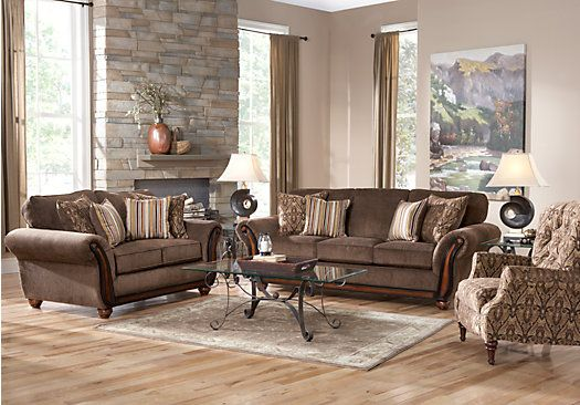 shop for a ansel park brown 5pc classic living room at rooms to go find