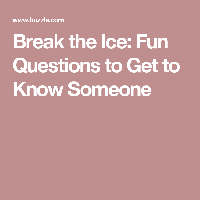 from Declan how to break the ice on internet dating