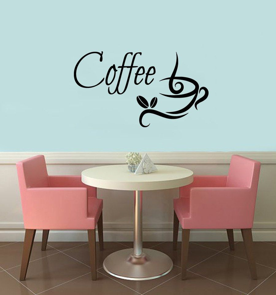 Wall decals vinyl decal sticker coffee time coffee cup coffee beans