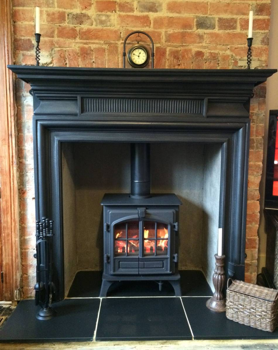 Belgravia Period Edwardian Cast Iron Stove Fireplace Surround In