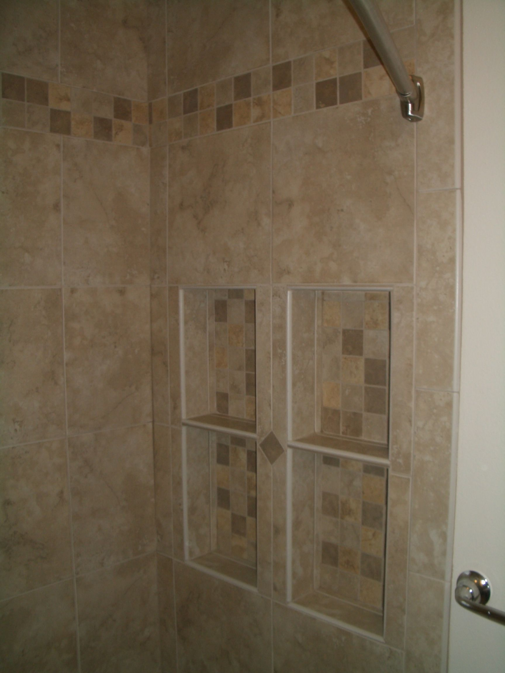 Shower bench ideas glass tile mosaic with grey wall and floor shower bench ideas glass tile mosaic with grey wall and floor tile home favorite places spaces pinterest shower benches tile mosaics and photo doublecrazyfo Gallery