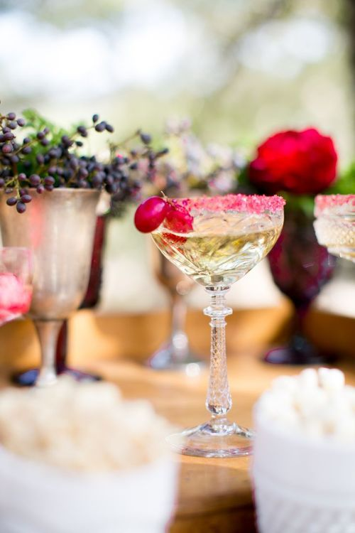 Pink trimmed champagne.  Bring a little colour to your bar..