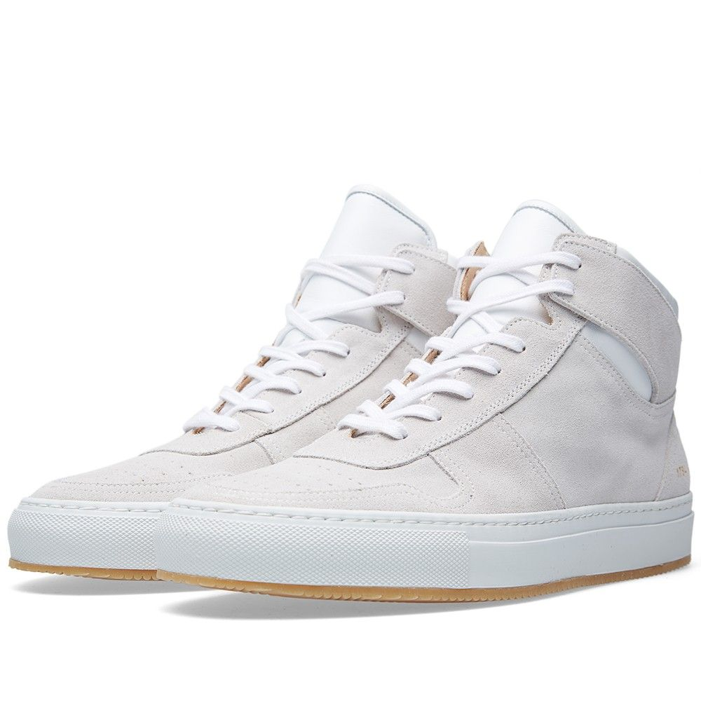 7b13bb757b6bcf Common Projects B-Ball High Suede (White) | Footwear | Common ...