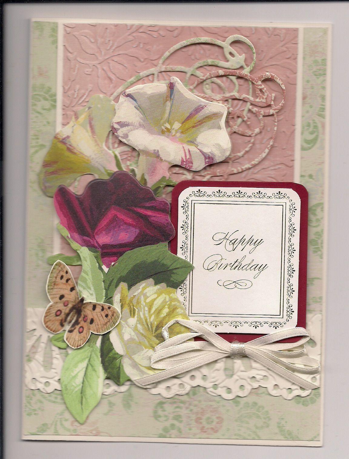 Birthday card with anna griffin flowers dies cards 4 pinterest birthday card with anna griffin flowers dies card making kitswindow m4hsunfo