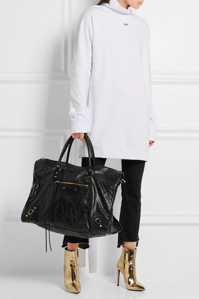 074614f04f7 Balenciaga - Classic Weekend textured-leather tote | MY STYLE ...