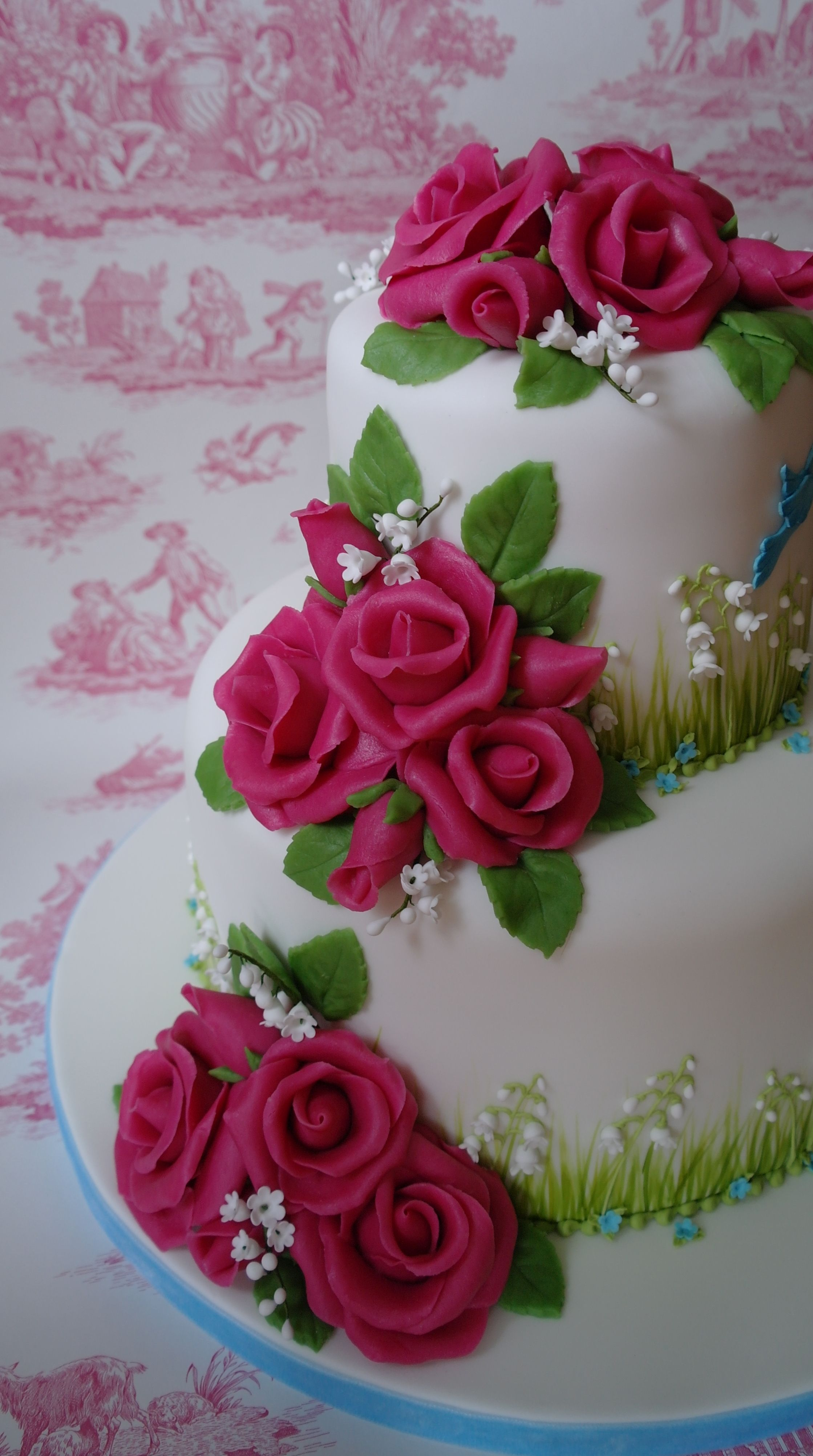 Two tier (Chocolate & Rich fruit cakes) Wedding cake with