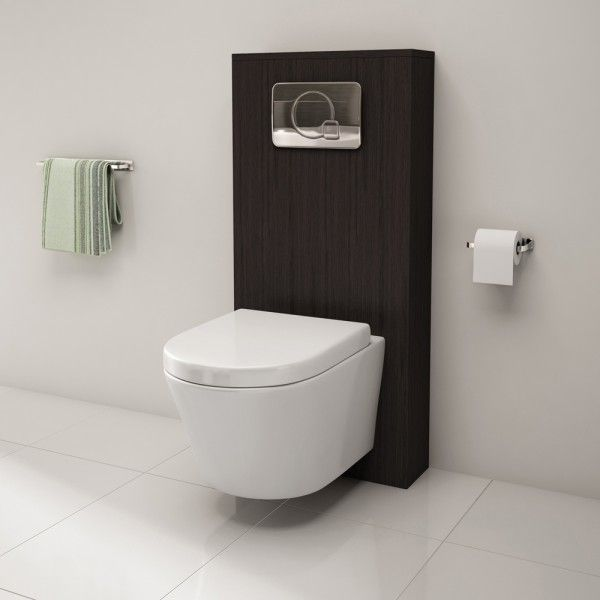 In case of a 2x4 wall this will hide your cistern and looks like designed on - Wall Mounted Toilet Cymun Designs