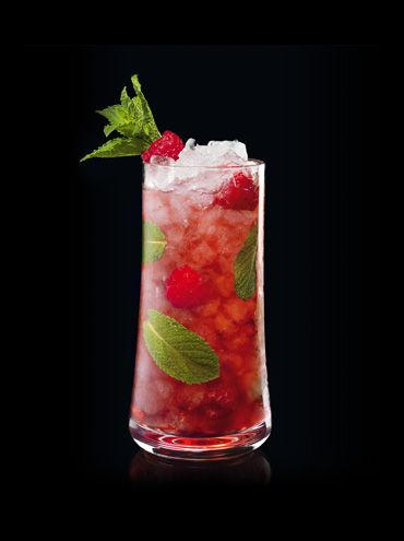 Cognac cocktail: Hennessy Berry is made with mint, brown sugar, and raspberry juice. This is just one of the many recipes you can find at hennessy.com. #henessydrinksrecipes