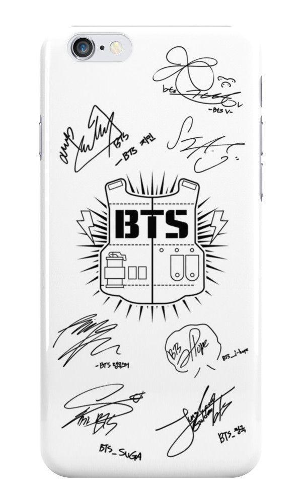 BTS Signatures White phone case