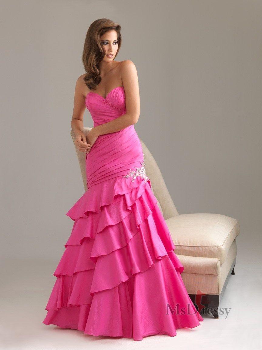 Trumpetmermaid floorlength sweetheart taffeta evening dress with