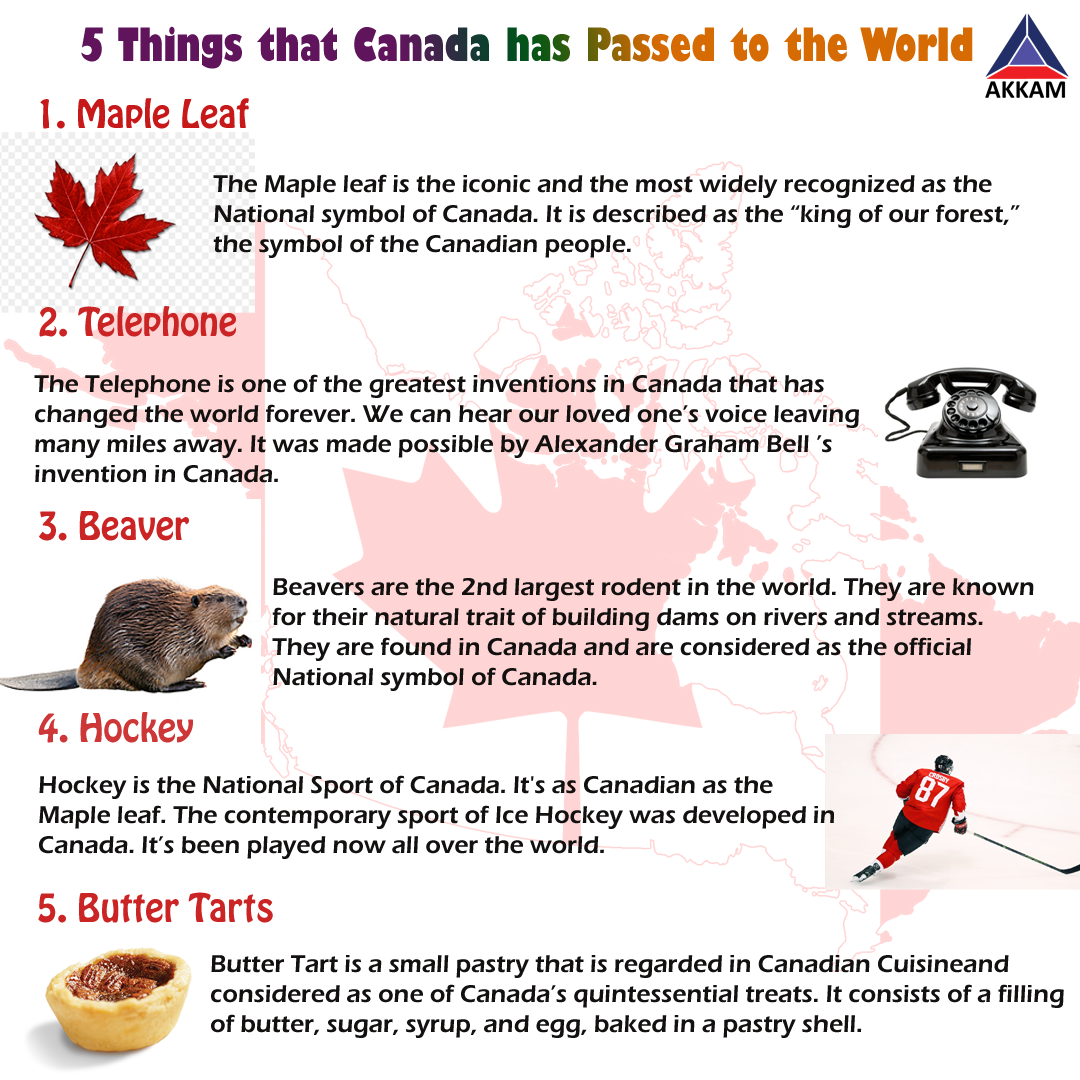 Here Is A List Of 5 Things Which Canada Has Passed To The Whole