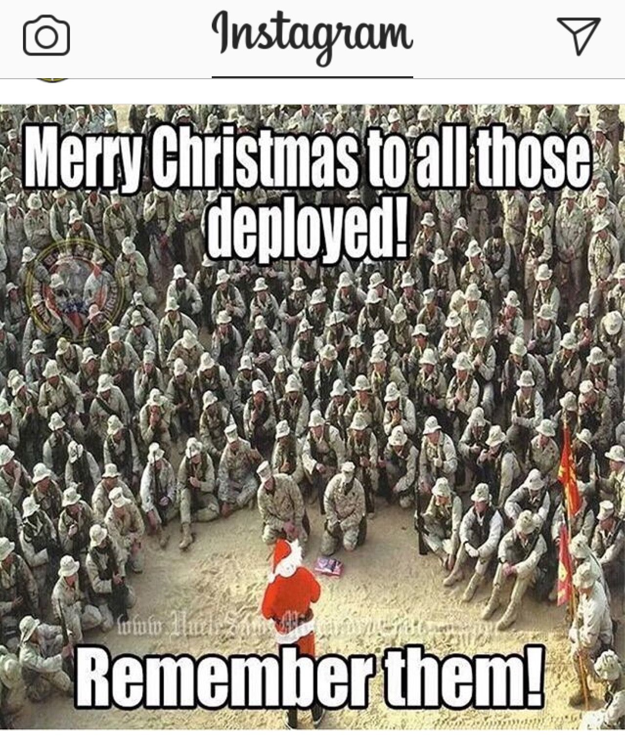Please remember these brave men and women during Christmas. I have ...